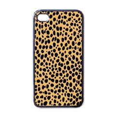 Cheetah Skin Spor Polka Dot Brown Black Dalmantion Apple Iphone 4 Case (black) by Mariart