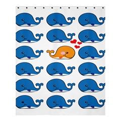 Fish Animals Whale Blue Orange Love Shower Curtain 60  X 72  (medium)  by Mariart