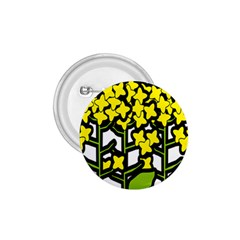 Flower Floral Sakura Yellow Green Leaf 1 75  Buttons by Mariart
