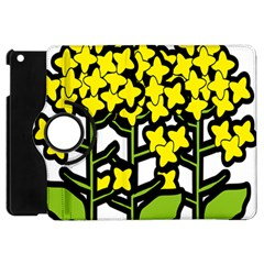 Flower Floral Sakura Yellow Green Leaf Apple Ipad Mini Flip 360 Case by Mariart