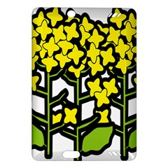 Flower Floral Sakura Yellow Green Leaf Amazon Kindle Fire Hd (2013) Hardshell Case by Mariart