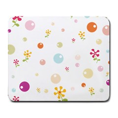 Flower Floral Star Balloon Bubble Large Mousepads by Mariart
