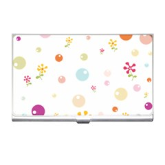 Flower Floral Star Balloon Bubble Business Card Holders by Mariart