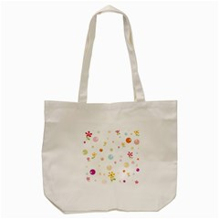 Flower Floral Star Balloon Bubble Tote Bag (cream) by Mariart