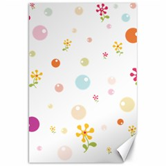 Flower Floral Star Balloon Bubble Canvas 20  X 30   by Mariart
