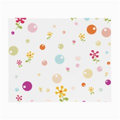 Flower Floral Star Balloon Bubble Small Glasses Cloth (2 Side) by Mariart