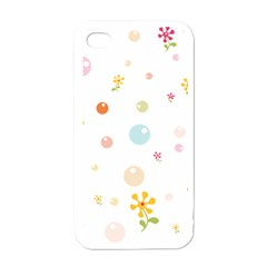 Flower Floral Star Balloon Bubble Apple Iphone 4 Case (white) by Mariart