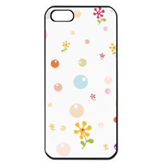 Flower Floral Star Balloon Bubble Apple Iphone 5 Seamless Case (black) by Mariart