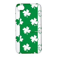 Flower Green Shamrock White Apple Iphone 4/4s Hardshell Case With Stand by Mariart