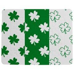 Flower Green Shamrock White Jigsaw Puzzle Photo Stand (rectangular) by Mariart