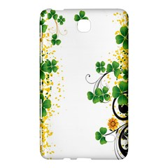 Flower Shamrock Green Gold Samsung Galaxy Tab 4 (8 ) Hardshell Case  by Mariart