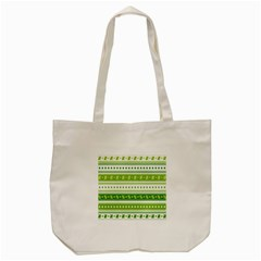 Flower Floral Green Shamrock Tote Bag (cream) by Mariart