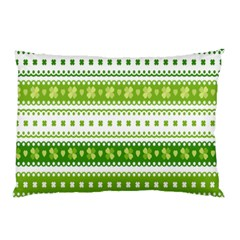 Flower Floral Green Shamrock Pillow Case by Mariart