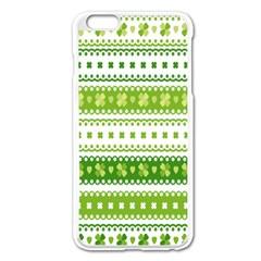 Flower Floral Green Shamrock Apple Iphone 6 Plus/6s Plus Enamel White Case by Mariart