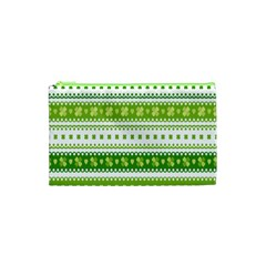 Flower Floral Green Shamrock Cosmetic Bag (xs) by Mariart