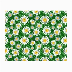 Flower Sunflower Yellow Green Leaf White Small Glasses Cloth (2 Side) by Mariart
