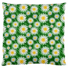 Flower Sunflower Yellow Green Leaf White Standard Flano Cushion Case (one Side) by Mariart