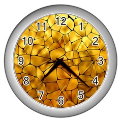 Gold Wall Clocks (silver)  by Mariart