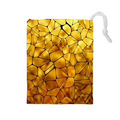 Gold Drawstring Pouches (large)  by Mariart