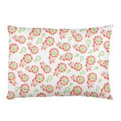 Flower Floral Red Star Sunflower Pillow Case (two Sides) by Mariart
