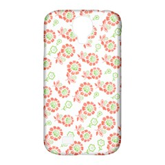 Flower Floral Red Star Sunflower Samsung Galaxy S4 Classic Hardshell Case (pc+silicone) by Mariart