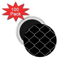 Iron Wire White Black 1 75  Magnets (100 Pack)  by Mariart
