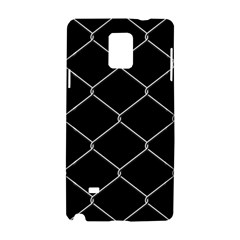 Iron Wire White Black Samsung Galaxy Note 4 Hardshell Case by Mariart