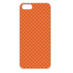 Heart Orange Love Apple Iphone 5 Seamless Case (white) by Mariart