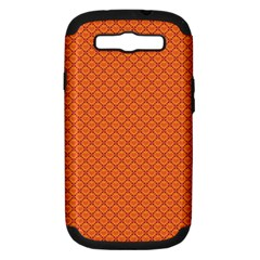 Heart Orange Love Samsung Galaxy S Iii Hardshell Case (pc+silicone) by Mariart