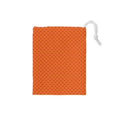 Heart Orange Love Drawstring Pouches (small)  by Mariart