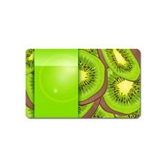 Fruit Slice Kiwi Green Magnet (name Card) by Mariart
