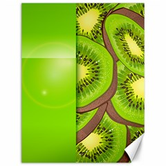 Fruit Slice Kiwi Green Canvas 12  X 16   by Mariart