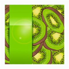 Fruit Slice Kiwi Green Medium Glasses Cloth (2 Side) by Mariart