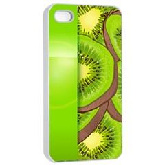 Fruit Slice Kiwi Green Apple Iphone 4/4s Seamless Case (white) by Mariart