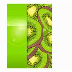 Fruit Slice Kiwi Green Small Garden Flag (two Sides) by Mariart