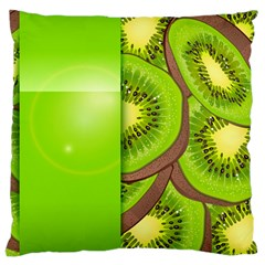 Fruit Slice Kiwi Green Large Cushion Case (two Sides) by Mariart