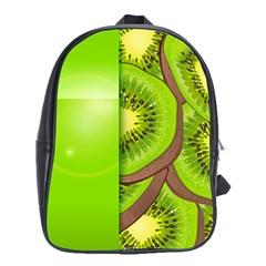 Fruit Slice Kiwi Green School Bags (xl)  by Mariart