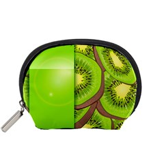 Fruit Slice Kiwi Green Accessory Pouches (small)  by Mariart