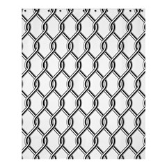 Iron Wire Black White Shower Curtain 60  X 72  (medium)  by Mariart