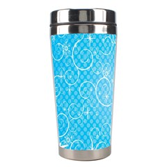 Leaf Blue Snow Circle Polka Star Stainless Steel Travel Tumblers by Mariart