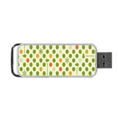 Merry Christmas Polka Dot Circle Snow Tree Green Orange Red Gray Portable Usb Flash (two Sides) by Mariart