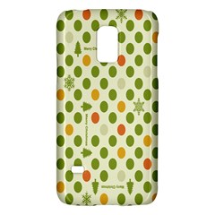Merry Christmas Polka Dot Circle Snow Tree Green Orange Red Gray Galaxy S5 Mini by Mariart