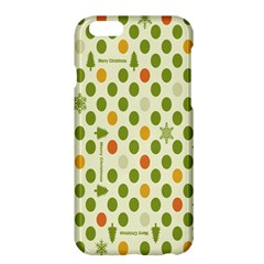 Merry Christmas Polka Dot Circle Snow Tree Green Orange Red Gray Apple Iphone 6 Plus/6s Plus Hardshell Case by Mariart