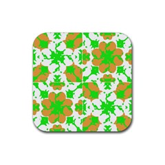 Graphic Floral Seamless Pattern Mosaic Rubber Coaster (square)  by dflcprints