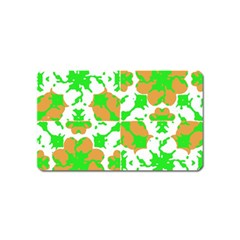 Graphic Floral Seamless Pattern Mosaic Magnet (name Card) by dflcprints