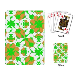 Graphic Floral Seamless Pattern Mosaic Playing Card by dflcprints