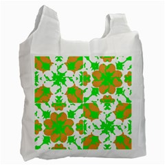 Graphic Floral Seamless Pattern Mosaic Recycle Bag (one Side) by dflcprints
