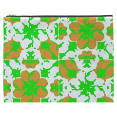 Graphic Floral Seamless Pattern Mosaic Cosmetic Bag (xxxl)  by dflcprints