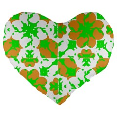 Graphic Floral Seamless Pattern Mosaic Large 19  Premium Heart Shape Cushions by dflcprints