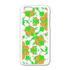 Graphic Floral Seamless Pattern Mosaic Apple Iphone 6/6s White Enamel Case by dflcprints